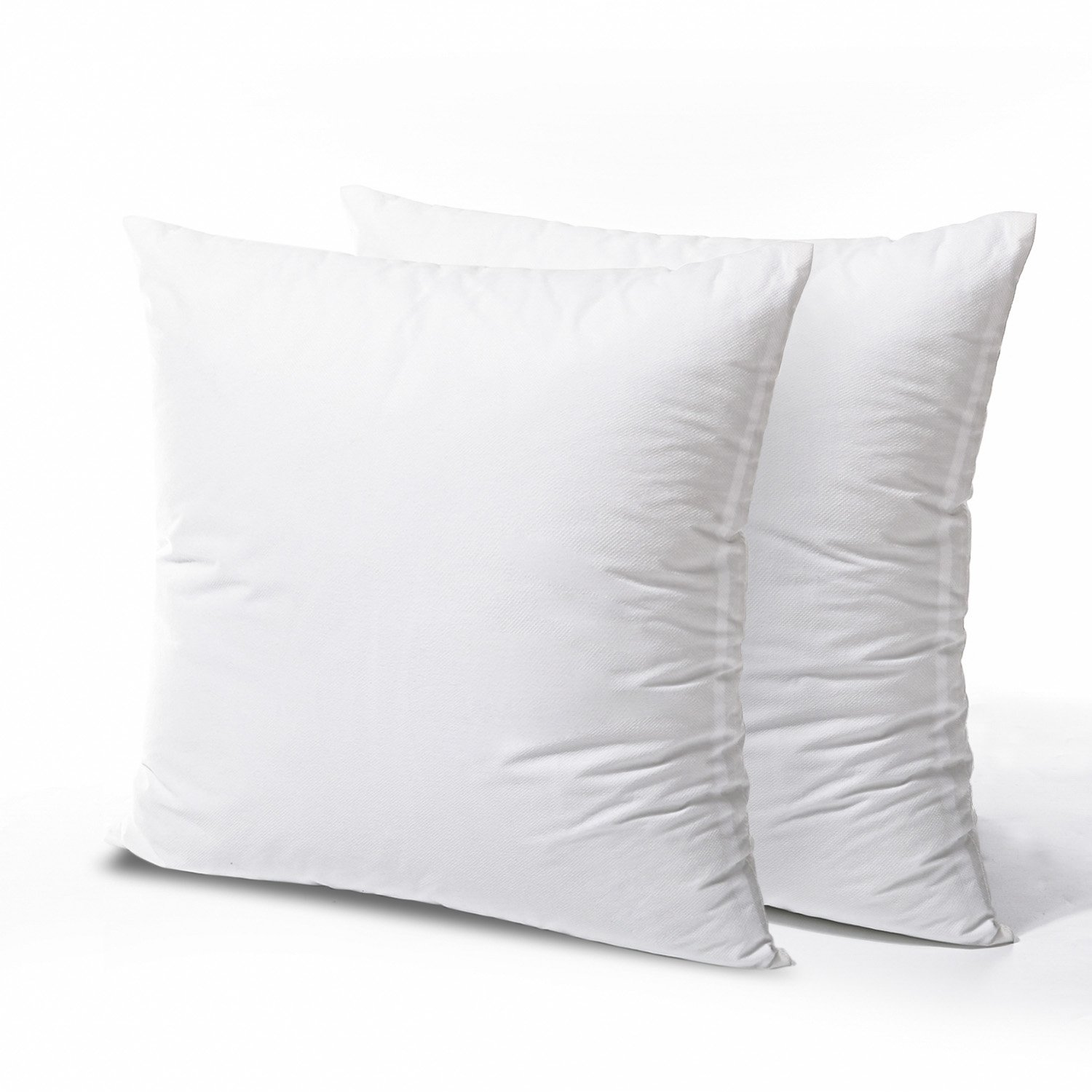 Phantoscope 2 Packs Throw Pillow Inserts Hypoallergenic Square Form Sham Stuffer 16 x 16 inches