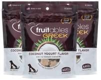 Fruitables 7 Ounce Greek Crunchy Dog Treats Coconut Yogurt Flavor