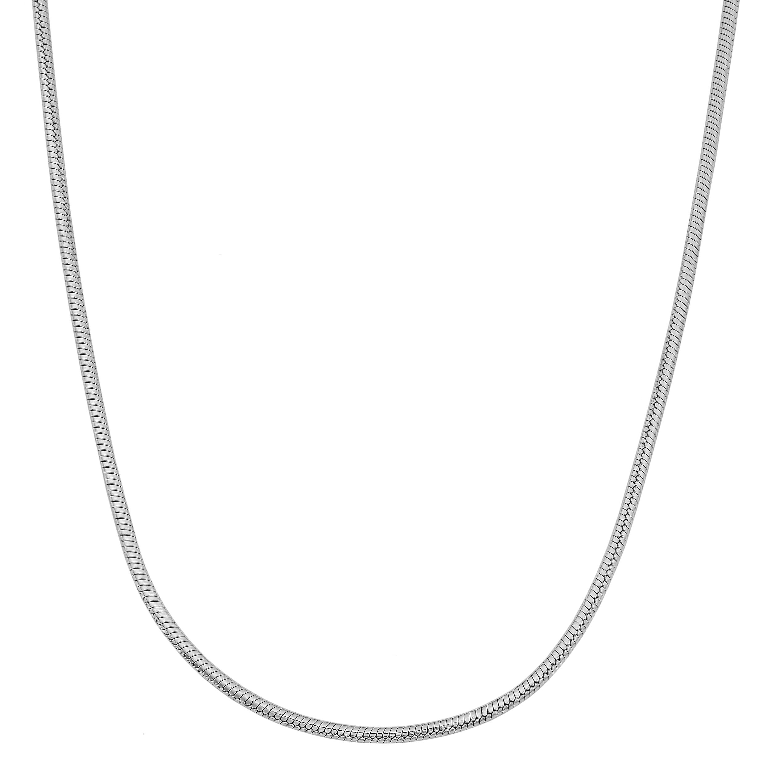 Kooljewelry Sterling Silver 1.2 mm Round Snake Chain Necklace (16, 18, 20, 22, 24 or 30 inch)