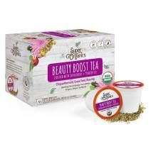 Super Organics Beauty Boost Green Tea Pods With Superfoods & Probiotics   Keurig K-Cup Compatible   Beauty Tea, Skin Care Tea   USDA Certified Organic, Vegan, Non-GMO Natural & Delicious Tea, 12ct