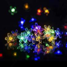 2 Pack10FT 20LED Flower String Lights, Sakura Light, Indoor/Outdoor Easter Decorative String Lights, Fairy Twinkle Lights 8 Modes Decoration for Christmas Wedding Birthday Party Holiday ( Multi-Color)