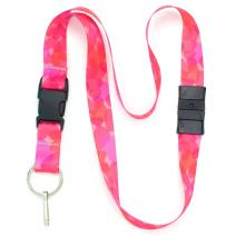 Buttonsmith Hearts Breakaway Lanyard - with Buckle and Flat Ring - Made in The USA