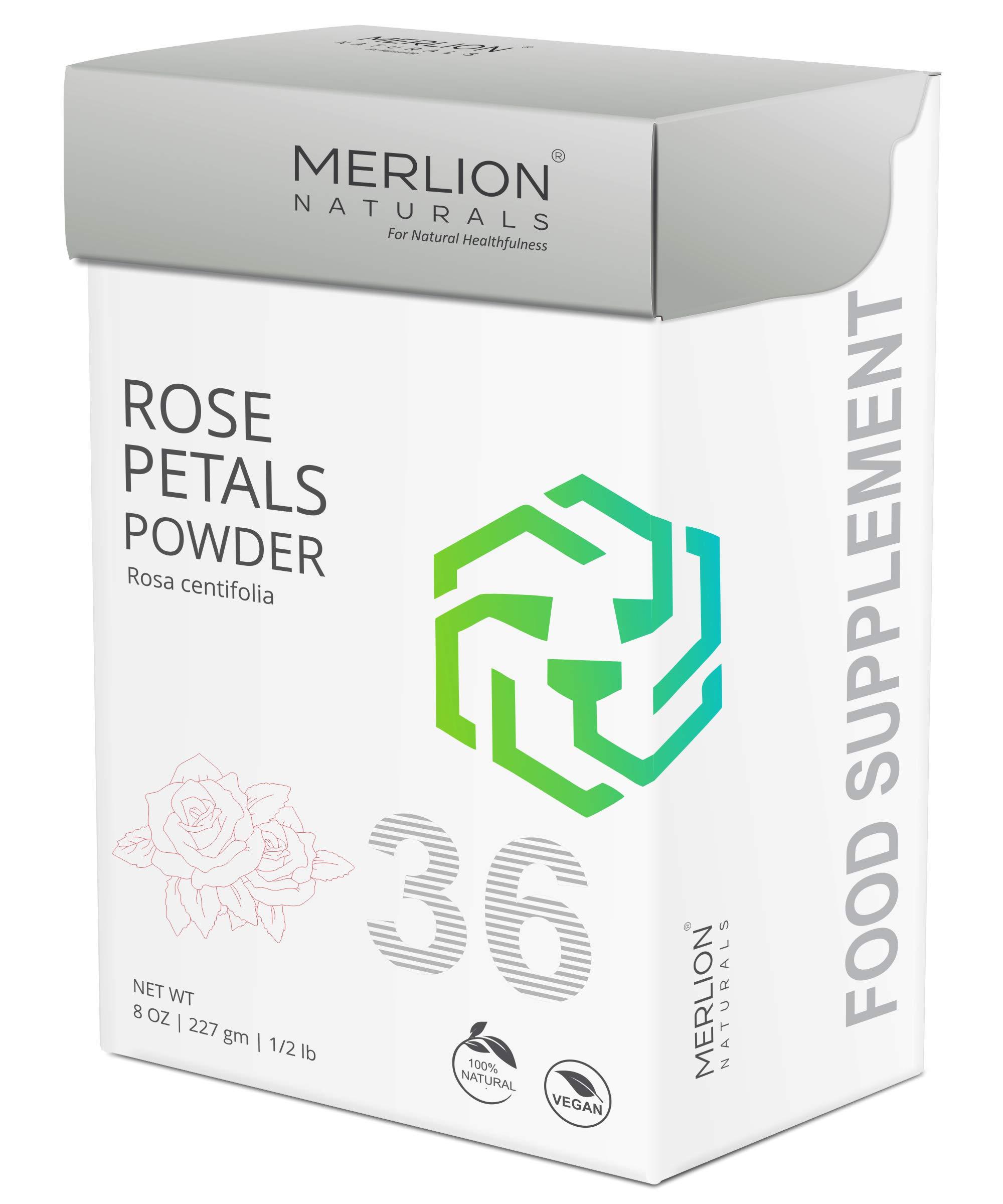 Rose Petals Powder by Merlion Naturals | Rosa centifolia | 100% Natural (8 OZ)