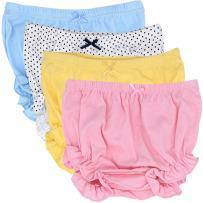 CeeDeek Baby Diaper Covers Combed Cotton Panties 4 Pack Cartoon Bloomers