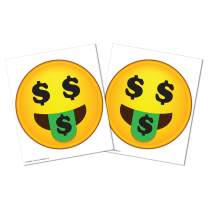KitAbility Get Social Single Emoji Sign Letters for White Message Board Sidewalk Signs with 4 Inch Tracks Includes One Pair of Money Mouth Face Emoticons