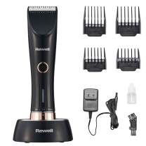 Rewell Cordless Hair Clipper, Hair Cutting Kit with 4 Combs, Hair Trimmer Set with Charging Base, Low Noise Design, Rechargeable Lithium Battery