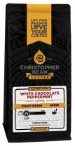 Christopher Bean Coffee Flavored Ground Coffee, White Chocolate Peppermint, 12 Ounce