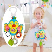 QLV Baby Hanging Rattles Toys Baby Toys for Baby Rattle Car Seat Toy & Baby Stroller Toy Colorful Animal Bell Rattle for Infants Sensory Toys Baby Musical Toys Soft Kids Crib Toys