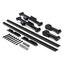 BlackPath - Fits Ford Mustang Subframe Connector + Control Arm Kit Fox Body (Black) Steel