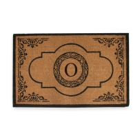 "A1 Home Collections First Impression Hand Crafted Abrilina Entry Monogrammed Doormat, Double Door, Black, 29.5"" X 47.5"""