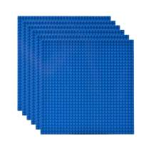 """Lekebaby Classic Baseplates Building Base for Building Bricks 100% Compatible with Major Brands-Baseplate 10"""" x 10"""", Pack of 6 (Blue)"""