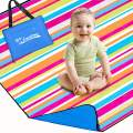 """Lantoo Extra Large Outdoor Picnic Blanket 79""""x79"""", Extra Soft Portable Beach Blanket Mat W/Compact Tote, Foldable, Machine Washable for Camping Hiking Travel"""