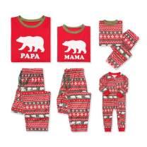 Family Christmas Pajamas Set - Polar Bear 2 Piece Pjs Sets Cotton Sleepwears Kid 120