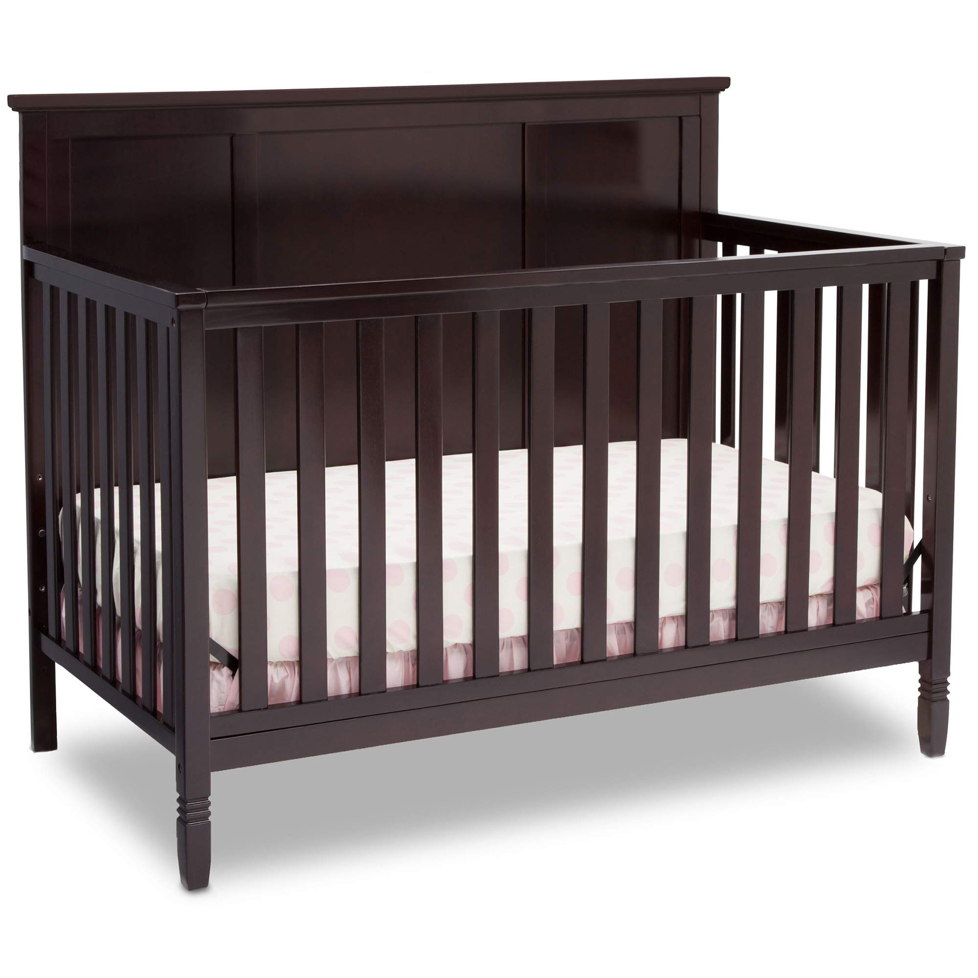 Delta Children Easton 4-in-1 Convertible Baby Crib, Dark Chocolate