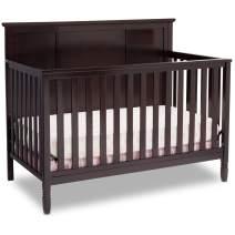 Delta Children Easton 4-in-1 Convertible Baby Crib, Dark Chocolate