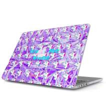 Glitbit Hard Case Cover Compatible with MacBook Pro 15 Inch Case Release 2016-2018, Model: A1990 /A1707 with Touch Bar Leave Alone Trippy Pastel Unicorn Aesthetic Rainbow Holographic Iridescent Quote