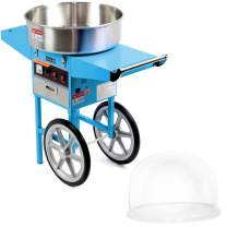 VIVO Blue Electric Commercial Cotton Candy Machine/Candy Floss Maker | Mobile Cart with Bubble Shield (CANDY-KIT-2B)