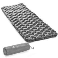 RikkiTikki Premium Lightweight Inflatable Sleeping Pad - Compact Camping Mat for Sleeping - Best Air Camping Mattress Pad for Backpacking, Camping, Hiking