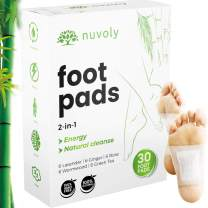 Foot Pads, 30 Pack, All Natural and Organic Formula, Upgraded 2 in 1 Patches (1 Pack (30 Foot Pads))