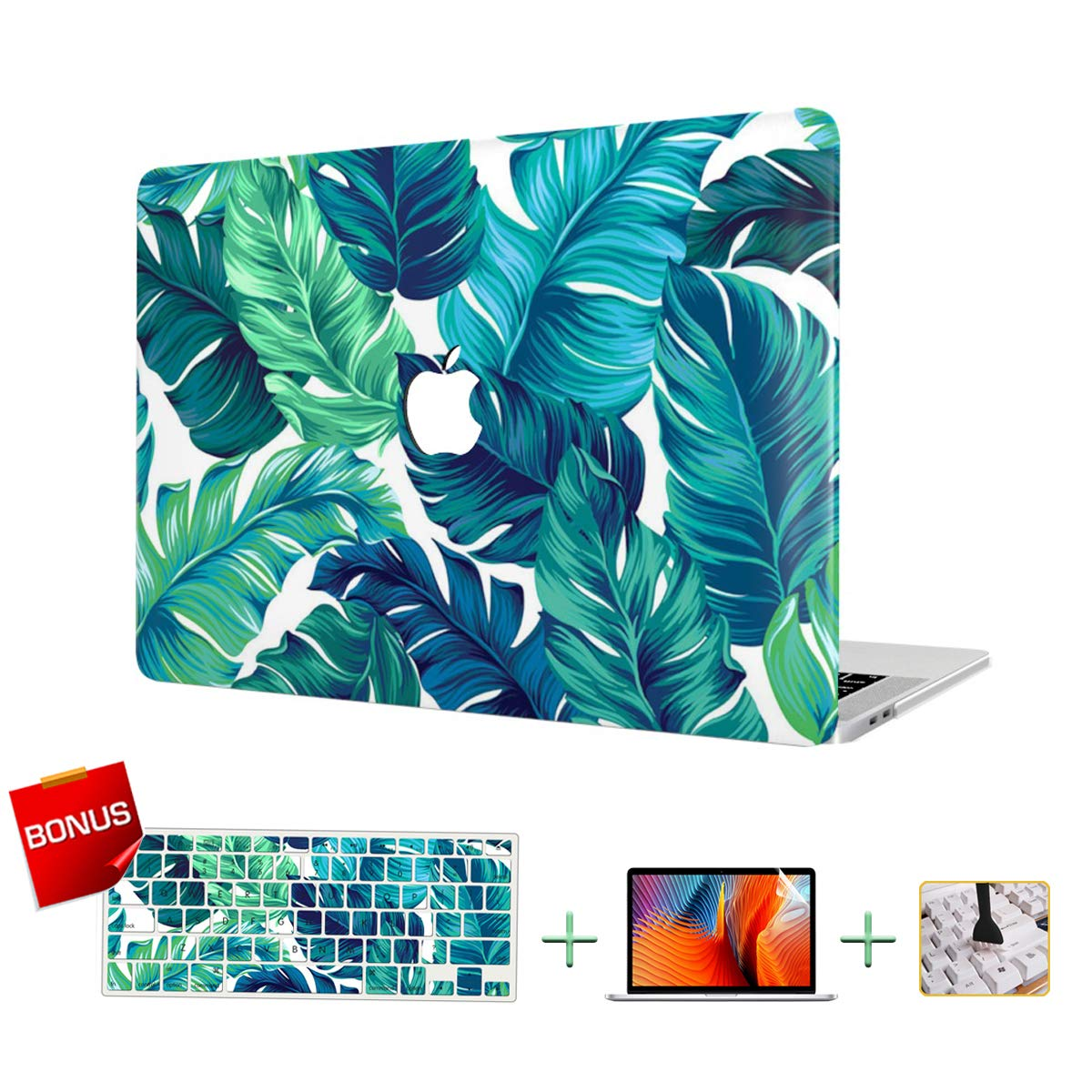 Laptop Case MacBook Case Hard Shell Case for MacBook Air 13-inch Model A1932(2018 Release) with Keyboard Skin Cover and Screen Protector
