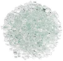 """American Fireglass 1/2"""" Clear Fire Glass, 20 lb. Bag"""