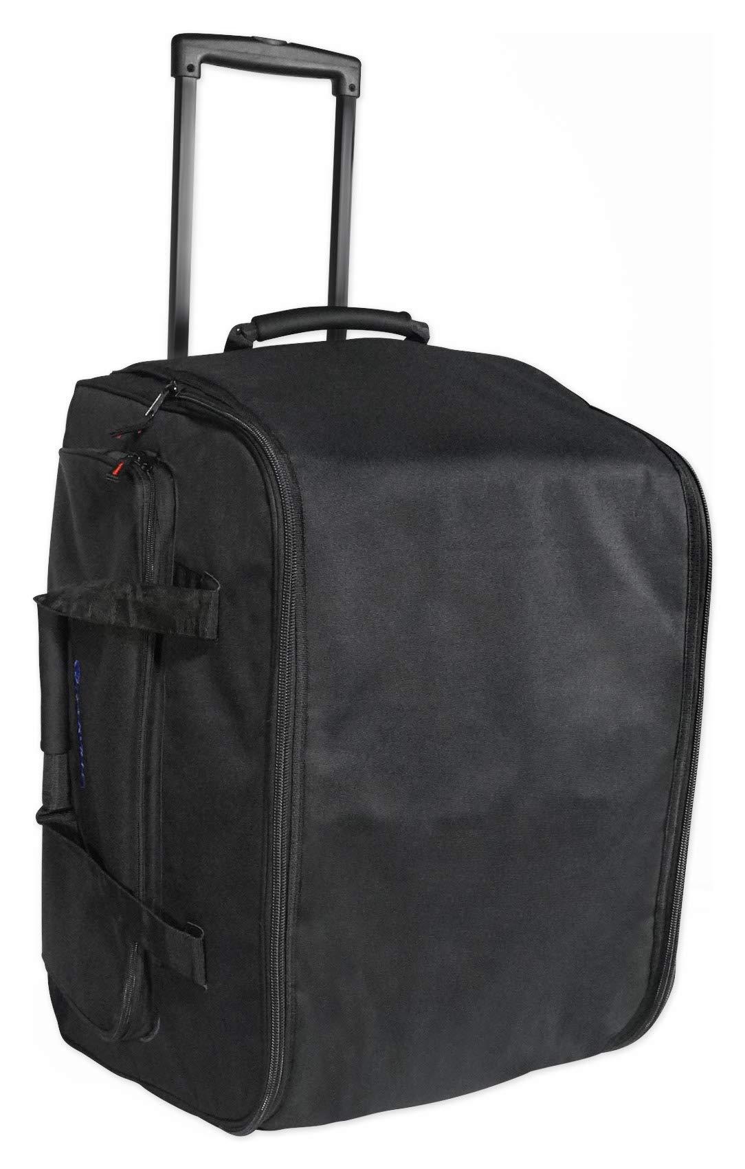 "Rockville Rolling Travel Bag For 12"" DJ PA Speakers w/Carry Handle+Wheels (SB12L)"