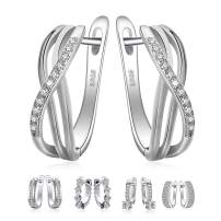 JewelryPalace 925 Sterling Silver Dangle Hoop Earrings Collection …