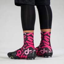 SLEEFS Pink Ribbon Pattern Spats/Cleat Covers