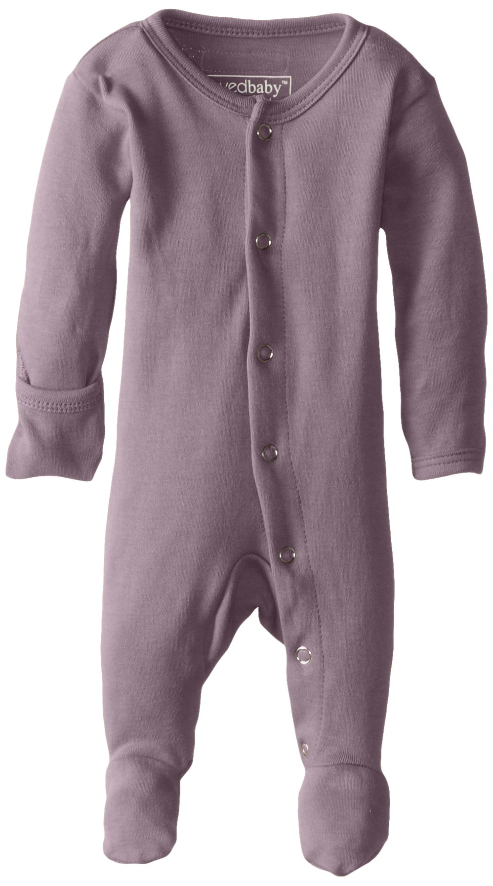 L'ovedbaby Unisex-Baby Organic Cotton Footed Overall, Lavender, 0/3 Months