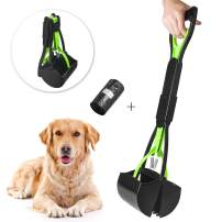 "Beinhome 23"" Portable Pet Pooper Scooper for Dogs and Cats with Waste Poop Bag for Easy Grass and Gravel Pick Up"
