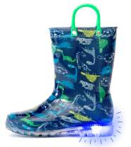 Outee Toddler Kids Printed Light Up Rain Boots