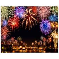 Allenjoy 10x8ft New Year Backdrop Annual Countdown NYE Shining Bokeh Fireworks Family Party Supplies Holiday Festival Decoration Celebration Photoshoot Props Photography Background Favors Booth Banner