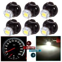 cciyu 6 Pack White T4/T4.2 Neo Wedge LED Bulb A/C Climate Control Lights US Ship Replacement fit for 1998-2010 Honda Accord/Odyssey/Civic