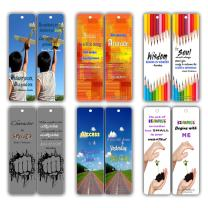 Smart Quotes About Wisdom Attitude Character Success Kindness Future Bookmarks (12-Pack) for Kids, Teens, Boys, Girls - Great Books Reading Rewards Incentives for Kids Boys Girls Classroom Supplies