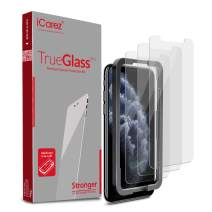 iCarez Tempered Glass Screen Protector for 2019 iPhone 11 Pro Max 6.5-Inch [Tray Installation] Case Friendly Easy Apply [ 3-Pack 0.33MM 9H 2.5D Clear]