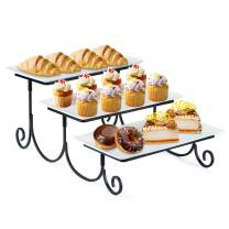 SRIWATANA 3 Tier Dessert Stand for Parties, Tiered Serving Platter Cake Display Tray for Cupcake, Food, Fruit