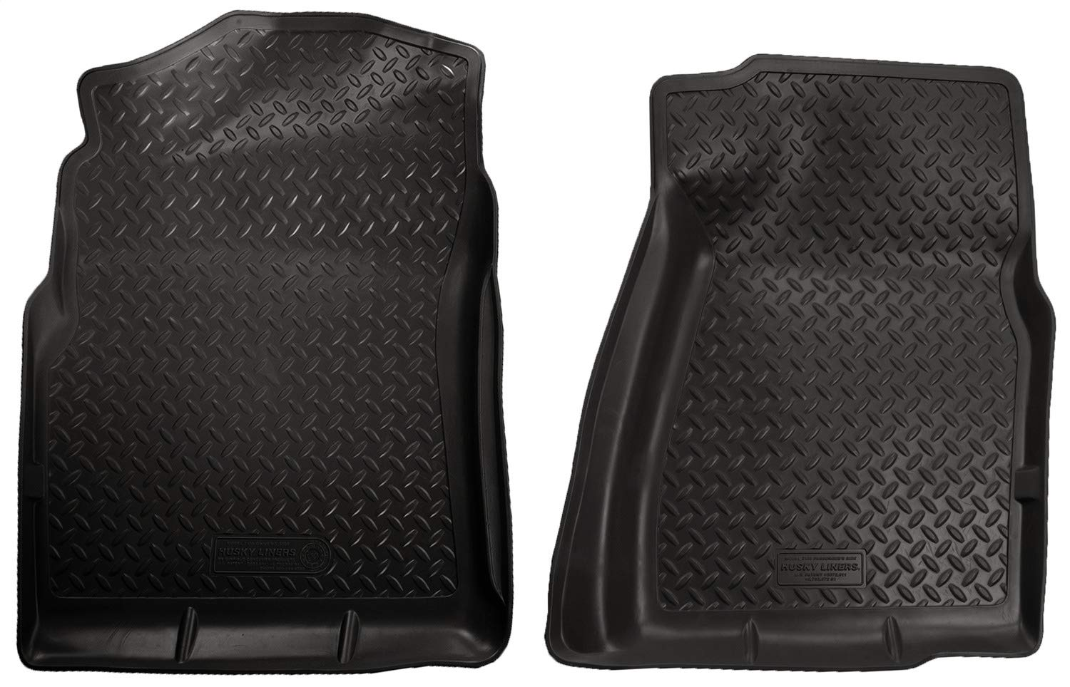 Husky Liners Fits 2007-13 Chevrolet Silverado/GMC Sierra 1500 Standard Cab, 2007-14 Chevrolet Silverado/GMC Sierra 2500/3500 Standard Cab Classic Style Front Floor Mats