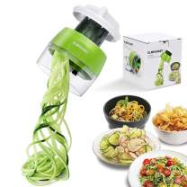 Handheld Spiralizer Vegetable Slicer, 4 in 1 Heavy Duty Veggie Spiral Cutter - Zoodle Pasta Spaghetti Maker