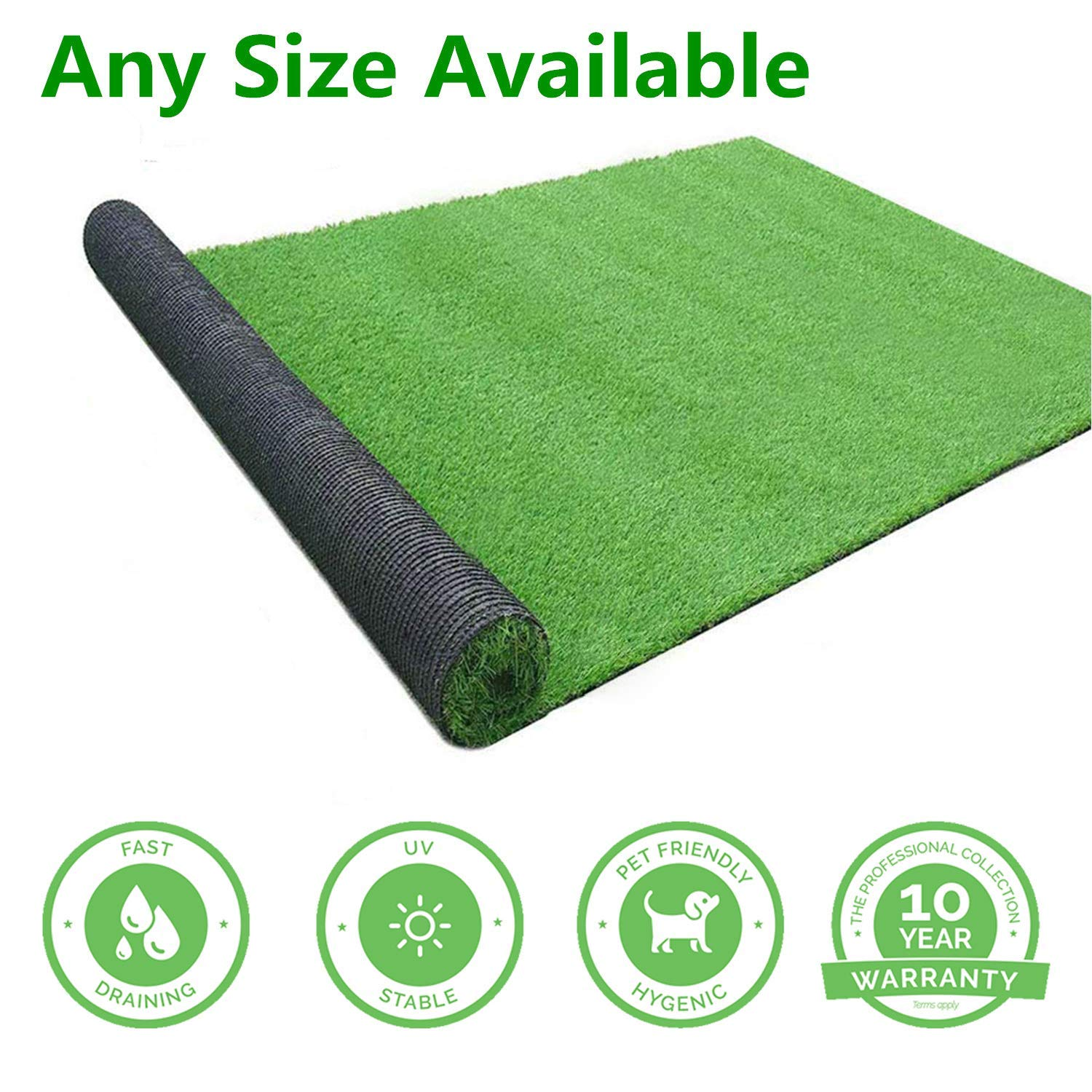 Gl Artificial Turf Grass Lawn 5 Ft X8 Ft Realistic Synthetic Grass Mat Indoor Outdoor Garden Lawn Landscape For Pets Fake Faux Grass Rug With Drainage Holes