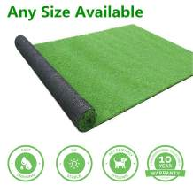 GL Artificial Grass Mats Lawn Carpet Customized Sizes, Synthetic Rug Indoor Outdoor Landscape, Fake Faux Turf for Decor 10FTX34FT(340Square FT)