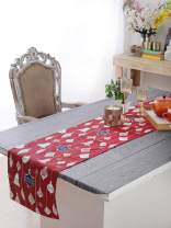 """Table Runner - Hanging Bells, 100% Cotton of Size 14"""" X 72 Inch, Eco - Friendly & Safe."""
