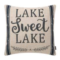 TRENDIN Lake Sweet Lake Pillow Cover Home Decor Cotton Linen Throw Cushion Case 18 x 18 inch PL396TR