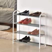 Shoe Organizer Free Standing Shoe Rack 4 Tier Shoe Rack Stand Shoe Tower Shelf Organizer Holder Storage Cabinet for Bedroom,Bathroom,Living Room