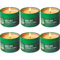 LucaSng Citronella Candle Outdoor Indoor 4.4 oz 6 Pack Scented Candle Set for Garden Patio Yard Home Balcony