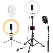 """PEHESHE 10.2"""" Selfie Ring Light with Tripod Stand 63""""/160 cm Right Light with Stand Selfie Light ARO De Luz Phone Light Circle Light for YouTube/Photography/Video/TIK Tok"""