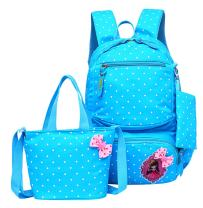 JiaYou Girls Cute Lunch Bag Purse/Pencil Bag School Backpack 3 Sets(20L,4# Blue)