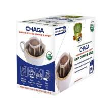 SOLLO 100% Organic Chaga Mushroom Drip Coffee Bags, Superfood, Mushroom Coffee, Immune System Support, Organic by USDA, Functional COFFEE Blend 16 Bags Per Pack
