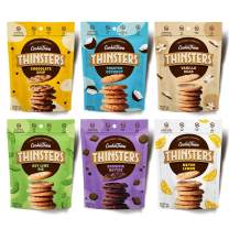 THINSTERS Cookies 6 Count Variety Pack, 4 Ounce Bags, Non GMO