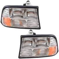Replacement Driver and Passenger Set Headlights Compatible with 98-04 Sonoma Pickup Truck