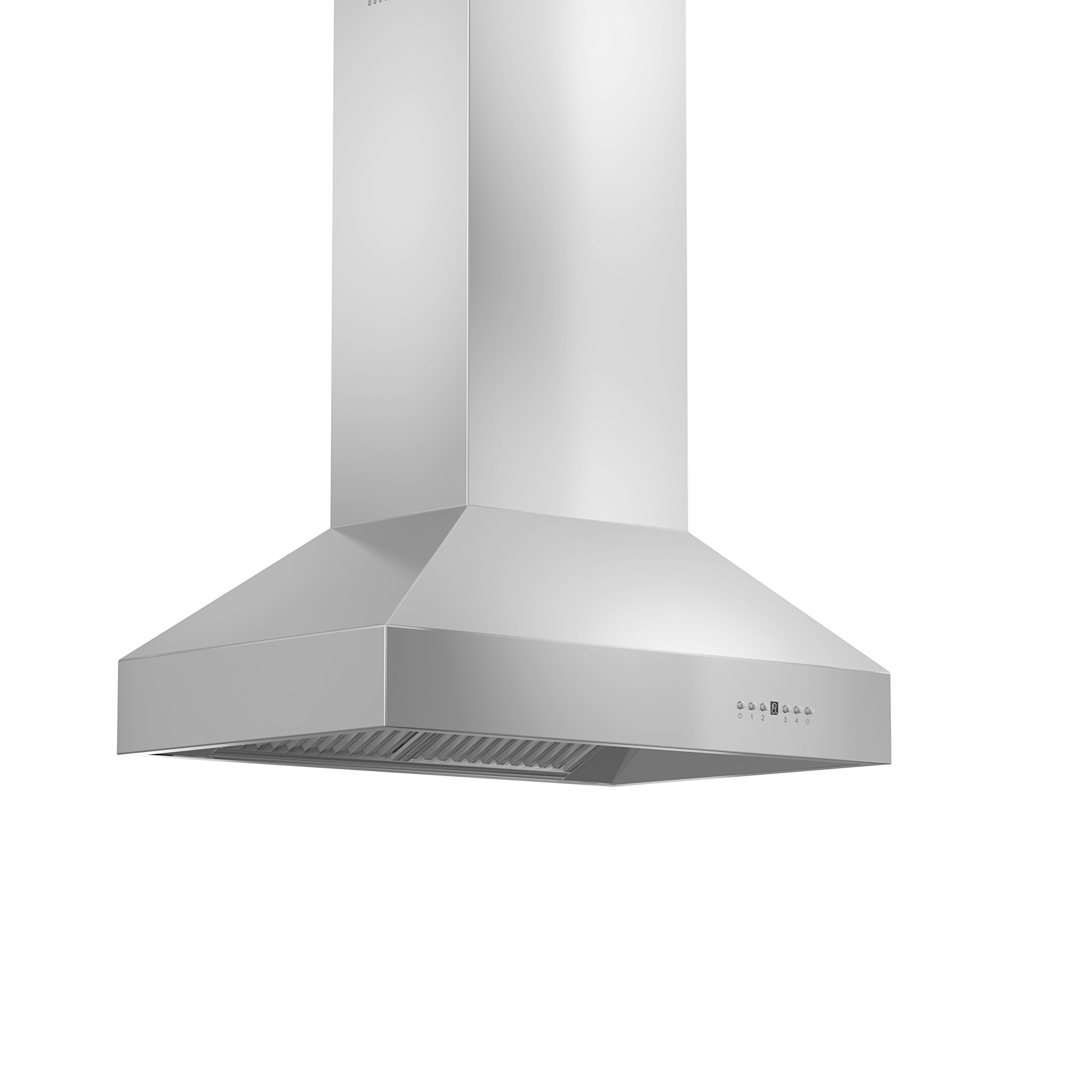 ZLINE 48 in. 900 CFM Island Mount Range Hood in Stainless Steel with Remote Single Blower